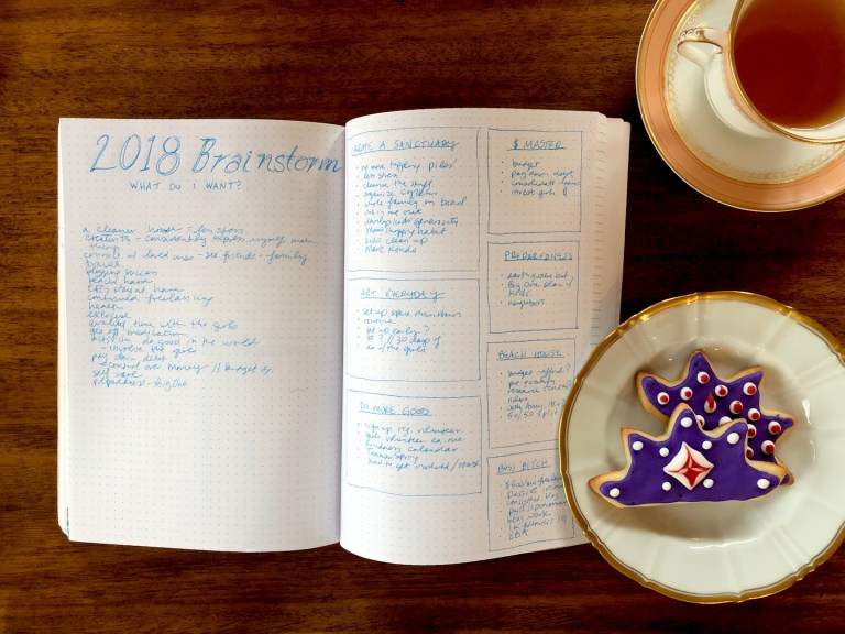 Monthly resolutions: an effective way to reach 12 goals in a year! Bullet journal brainstorm - Ten Thousand Hour Mama