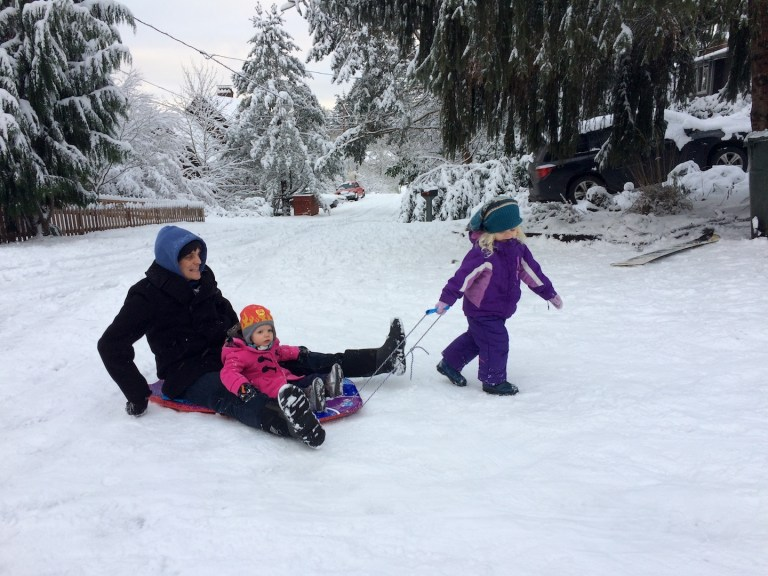 Winter fun and sledding with kids - Ten Thousand Hour Mama