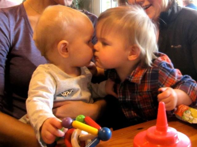 The girls' first kiss