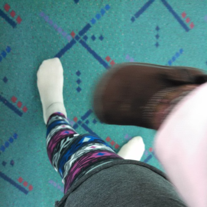 PDX Portland Airport carpet selfie - Ten Thousand Hour Mama