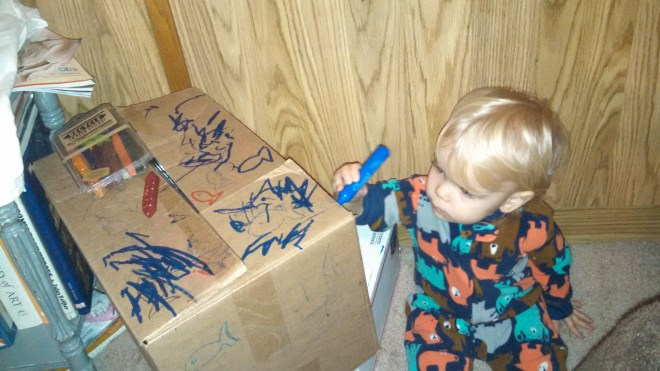 Toddler moving boxes - Ten Thousand Hour Mama