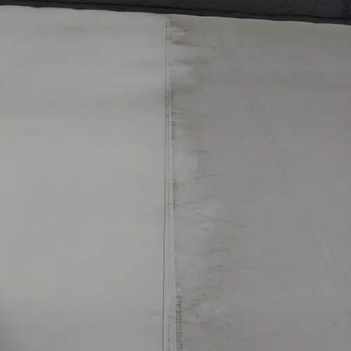 店舗テント左右で洗浄効果を比較