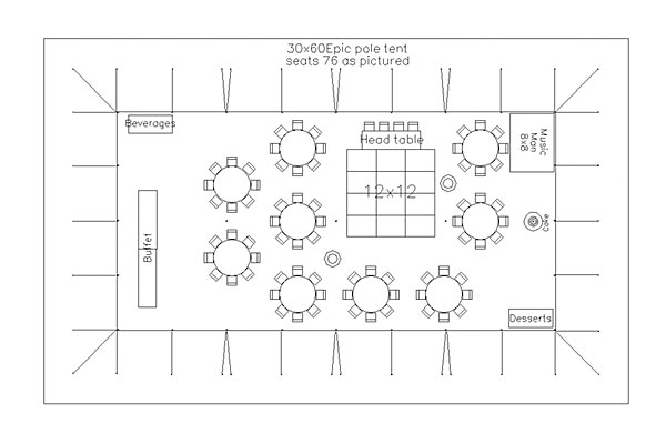 Sample Layout For 75 Attendees