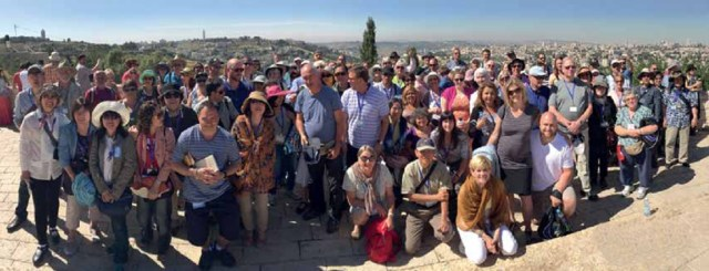 With Revive Israel team overlooking Jerusalem