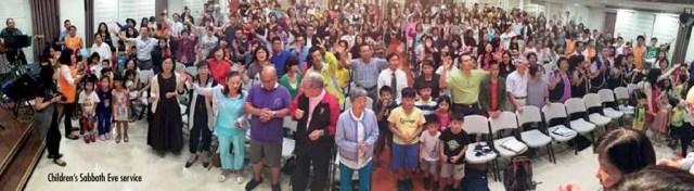 Children's Sabbath Eve service