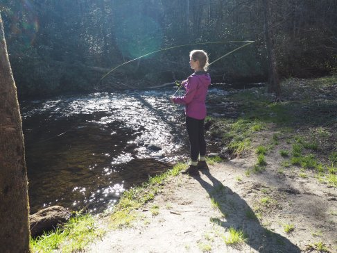 A little bit of fly fishing