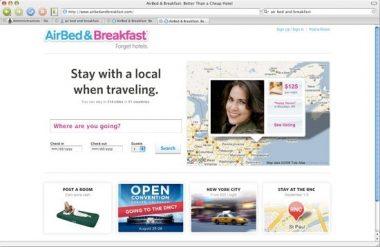 Antigua página de AirBed & Breakfast