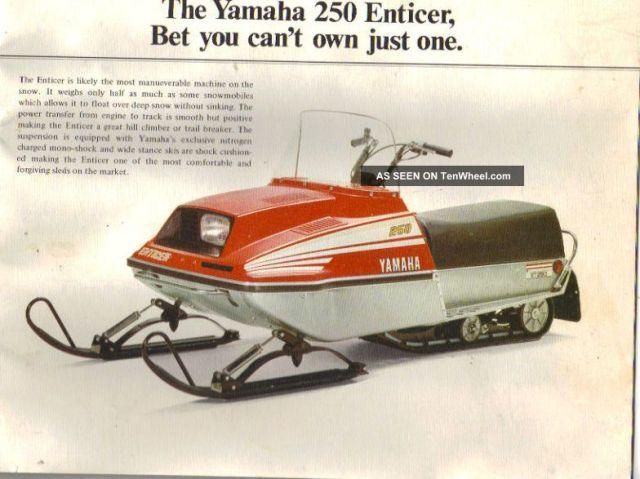 1977 yamaha 250 snowmobile hobbiesxstyle. Black Bedroom Furniture Sets. Home Design Ideas