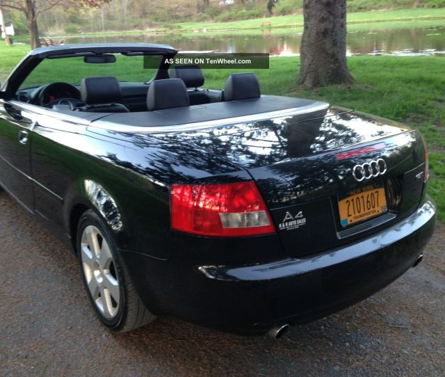Audi A Cabriolet Convertible  T Black On Black Cvt Tranny