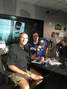 In the studio at the Northwest Italian Radio Show (KKND) with publisher Ethan Yarbrough