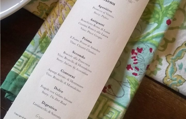 Ten Years in Tuscany Dinner Menu