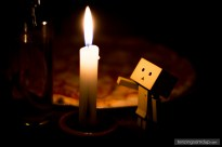 danbo and candle