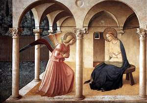 Fra Angelico: 'Annunciation', fresco at St. Mark's Convent, 1437-1446
