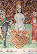 John Huss in the fire, fresco at Bethlehem Chapel, Prague