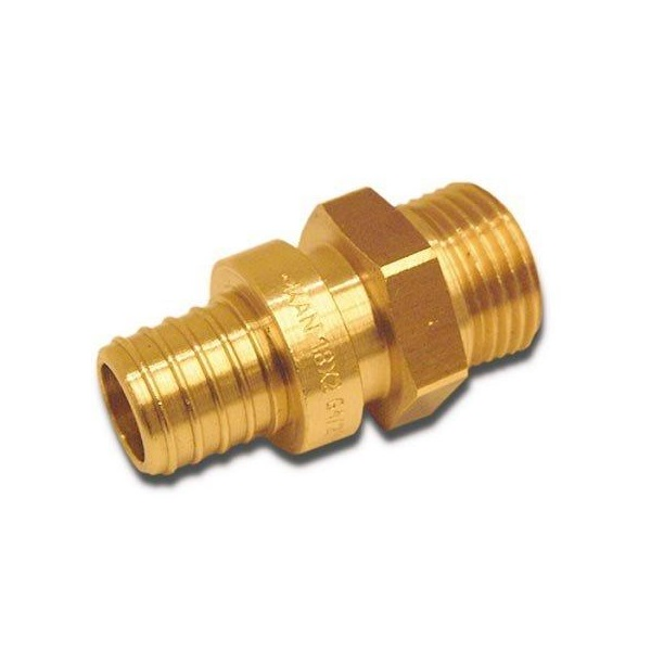 Соединитель KAN-therm Push с манжетой с резьбой наружной 18×2,5 G3/4″