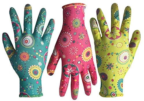 Nitrile gardening gloves
