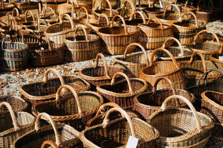 hundreds of wicker baskets