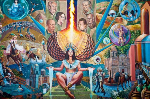 Mayahuel Mural en Ciudad de Tequila Jalisco Mexico