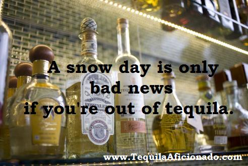 snow day, masa azul, tequila