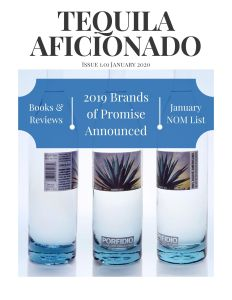 Book Cover: Tequila Aficionado Magazine, January 2020