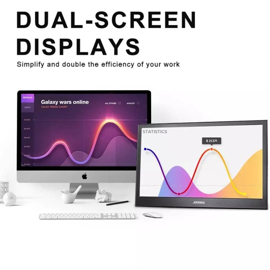 Monitor portátil 13,3 pulgadas 2K IPS LCD