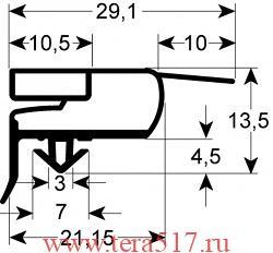 Уплотнитель холодильника ILSA АН 071008 1498х658 мм