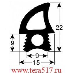 Уплотнитель дверной 1760 мм TECNOEKA (01000070) EKF523E UD, EKF523UD, KF412U, KF937D UD