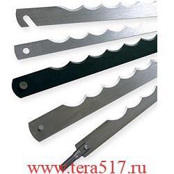 Нож рамный 350 мм штифт 3х6/винт М5х45 (CV, 12 мм, 0.5 мм) для хлеборезки