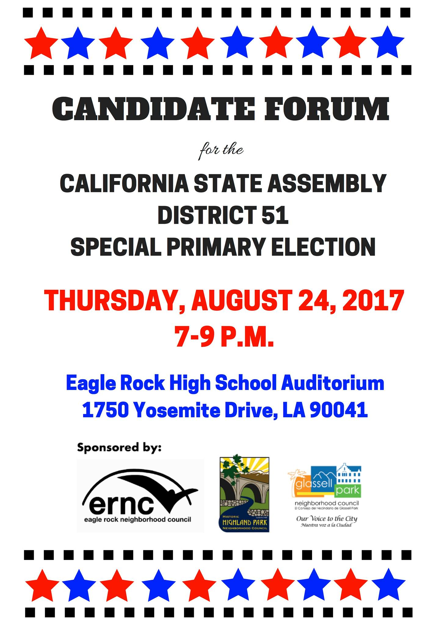 Candidate Forum for the CA AD-51 Special Election