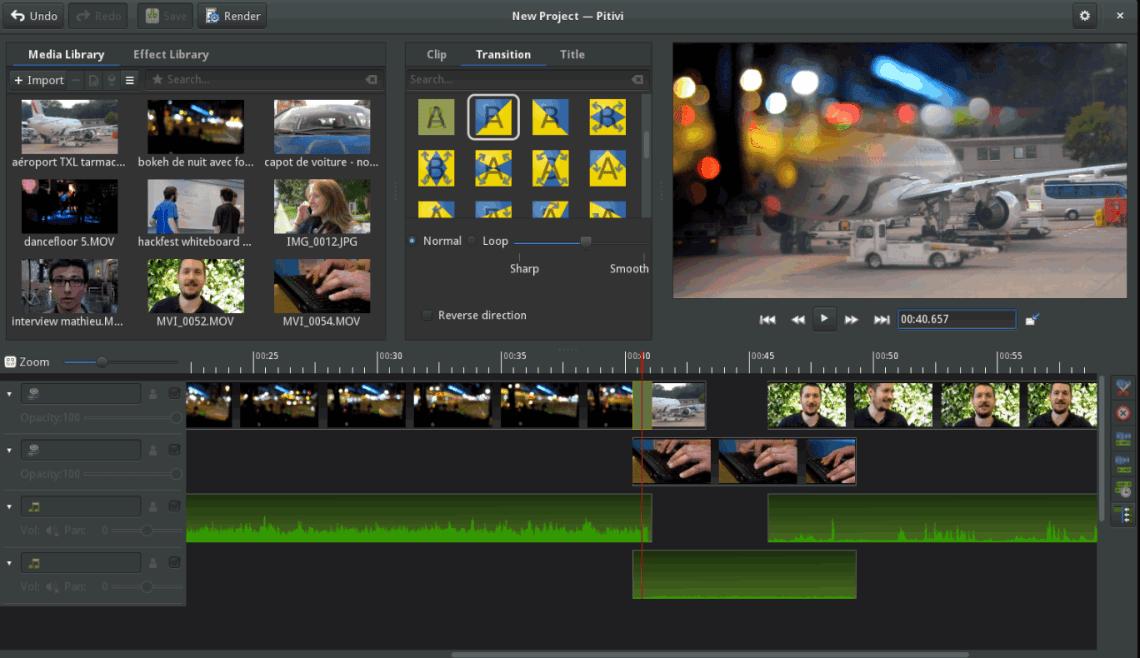 Pitivi Video Editor Linux