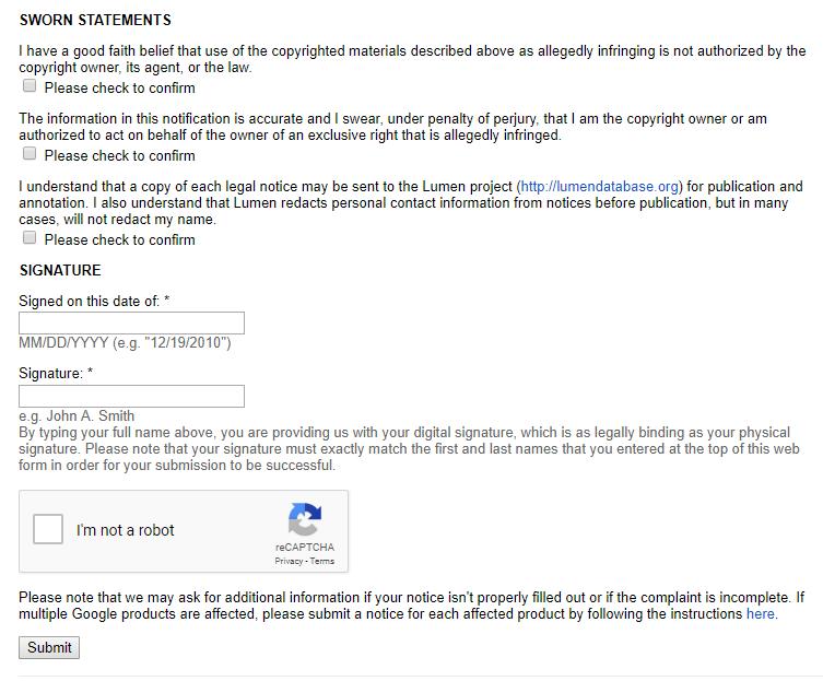 Laporkan Copy Paste ke Google DMCA