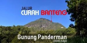 Jalur Curah Banteng Gunung Panderman