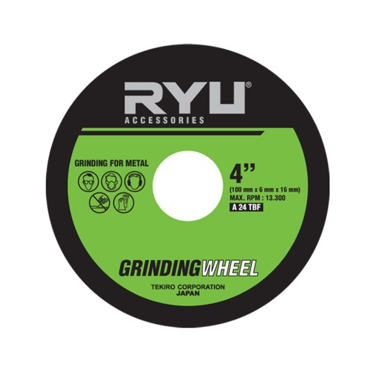 """GRINDING WHEEL DOUBLE LAYER 100mmx6mmx16mm (4"""")"""