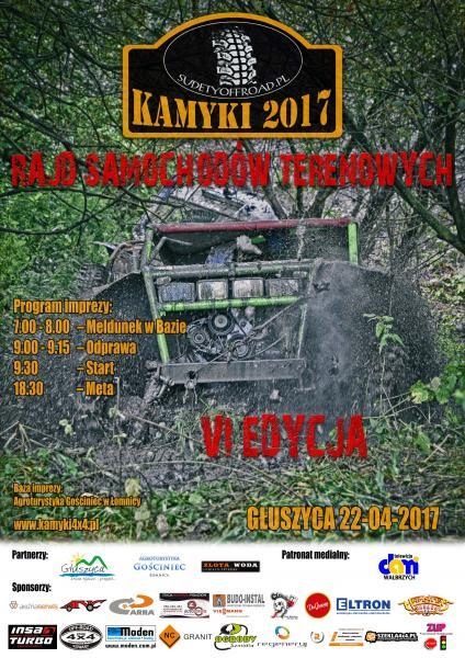 VI RAJD SAMOCHODÓW TERENOWYCH KAMYKI 2017