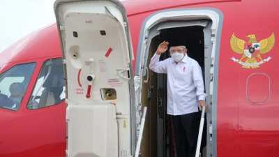 Usai Resmikan Bandara Haji Muhammad Sidik, Wapres RI Pulang Lewat Bandara Tjilik Riwut