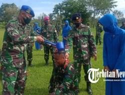 Ka Kimal Lampung Pimpin Upacara Kenaikan Pangkat 4 Anggota TNI AL