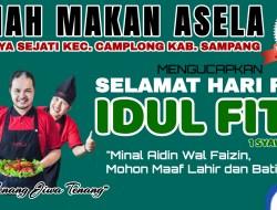 RM Asela Camplong Sampang Ucapkan Selamat Hari Raya Idul Fitri 1442 H