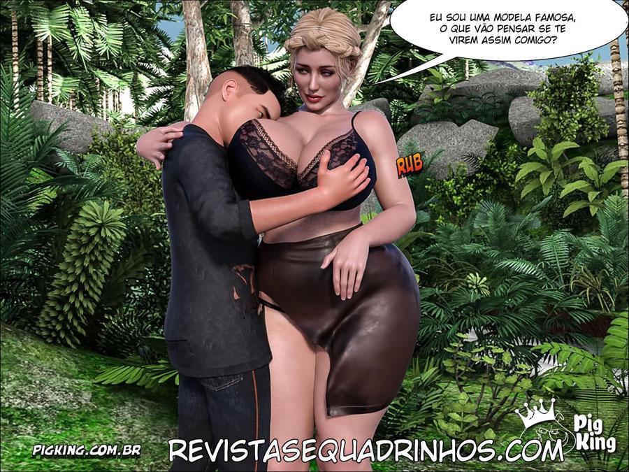 Lost Family 2: A Mãe milf e filho que com certeza vai rolar um incesto e zoofilia básico entre eles, continuam perdidos na ilha deserta