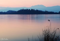 Tramonto sul lago 1