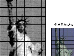 grid enlarging technique