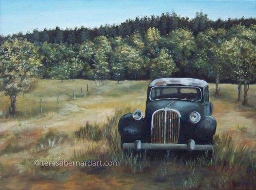 vintage Ford V8 painting