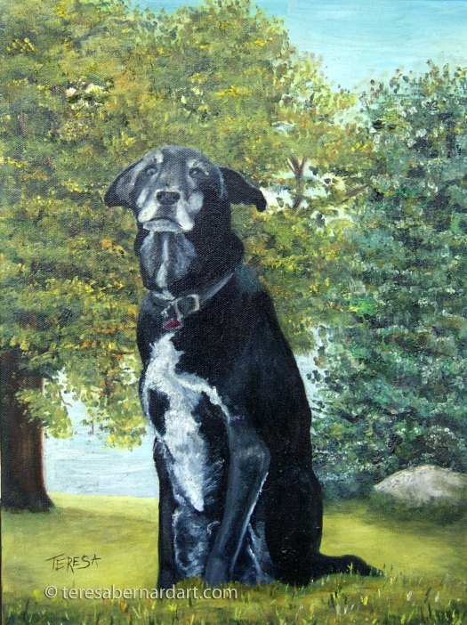 Pet Portrait oil painting