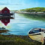 Peggy's Cove oil painting