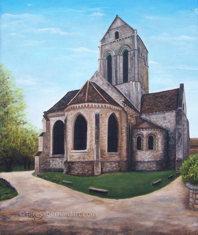 gothic church painting