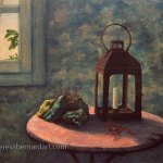 Still Life with Coral and Lantern painting