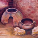 Iron Age Pottery Still Life painting
