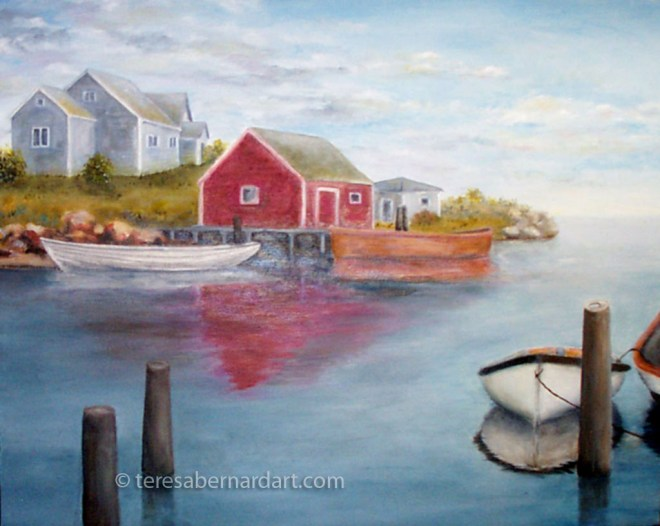 peggy's cove nova scotia painting