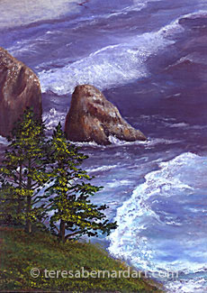 OR coast seaside painting