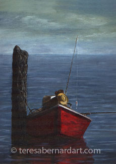 fisherman marine painting