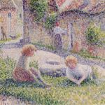 Children on a Farm by Camille Pissarro